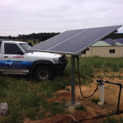 Solar bore pump @ Black Springs