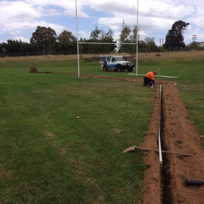 New irrigation @ James Sheahan High School