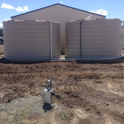 Install of new 5000gal tanks & bore pump @ Clifton Grove Orange
