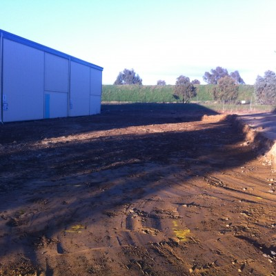 Stratco earthworks dig out for new pad
