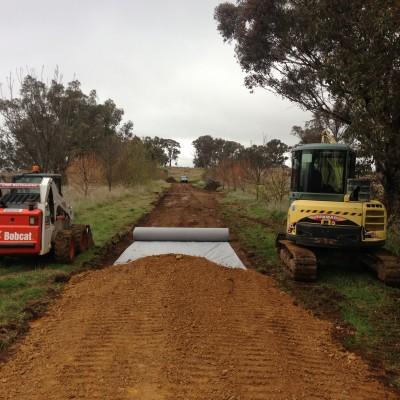 Road works @ boree LN Orange