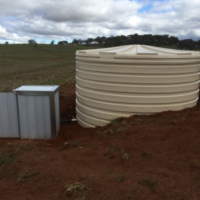 New pump shed & tank @ Icely Road Orange