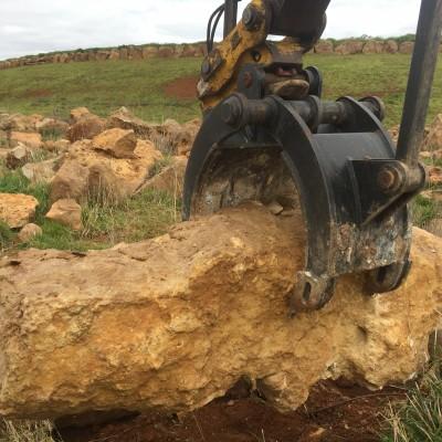Rock grab for komatsu excavator