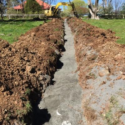 Install of Drainage Orange