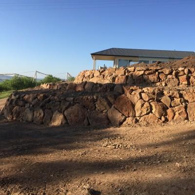 Rock wall Orange